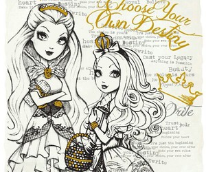 apple white, raven queen, and ever after high image