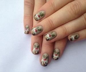 christmas tree nails and xmas nails image