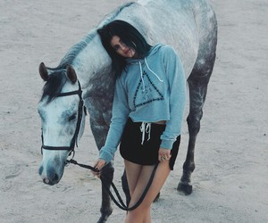 kylie jenner, horse, and jenner image