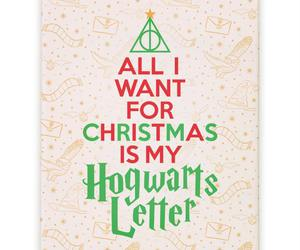 christmas and hogwarts image