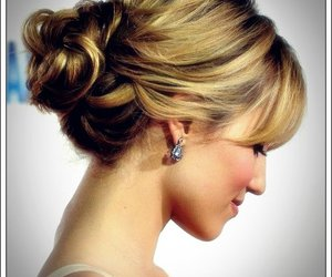 fashion, hairstyle, and updo hair image
