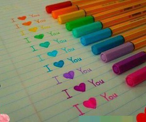 colors, love you so much, and I Love You image