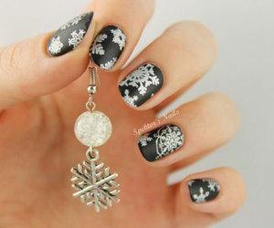 christmas and nail art image