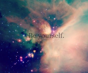 be yourself, galaxy, and space image