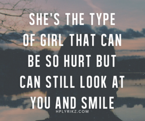 hurt, smile, and quote image
