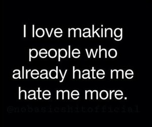 hate, funny, and me image