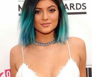 kylie jenner, hair, and blue hair image