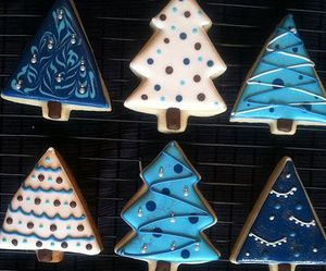 christmas, blue, and Cookies image