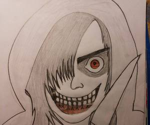 black and white, creepy, and jeff the killer image