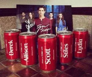 teen wolf, lydia, and derek image