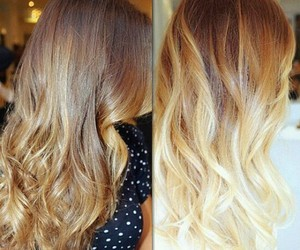 hair, ombre, and sombre image