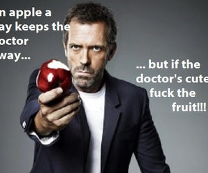doctor, dr house, and good advise image