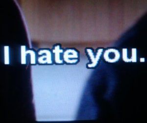 hate, quote, and i hate you image