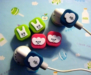 blue, green, and headphones image
