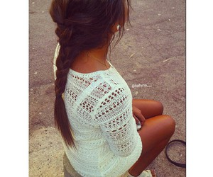 braid, dress, and girl image