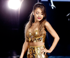 ariana grande, gold, and Queen image