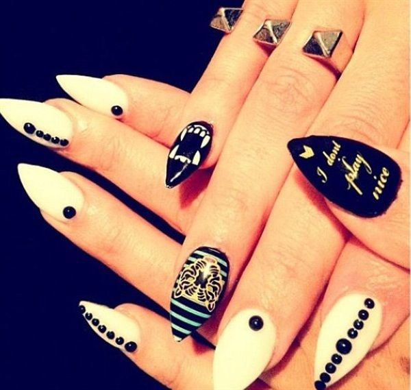 black, nails, and cool image