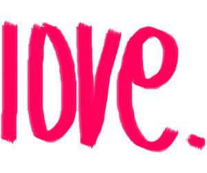 love, pink, and text image