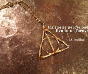 deathly hallows, harry potter, and j.k. rowling image