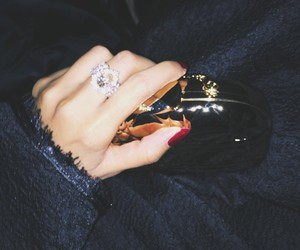 clutch, ring, and black image