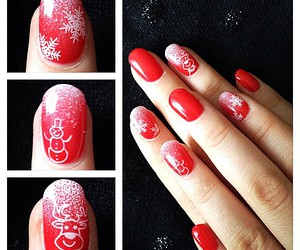 christmas, fashion, and nail image