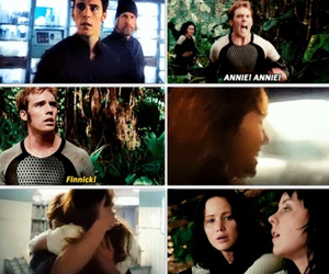annie, finnick, and kiss image