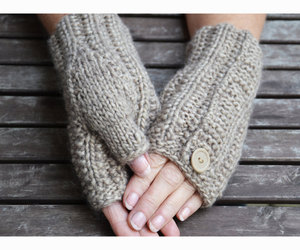 gloves, fingerless mittens, and knit gloves image