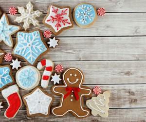 christmas, snow, and food image