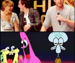 funny, Jennifer Lawrence, and spongebob image
