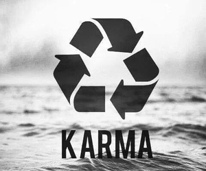 karma, sea, and quote image