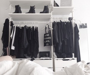 black, fashion, and closet image