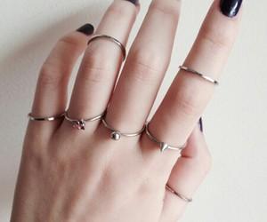 rings, nails, and black image
