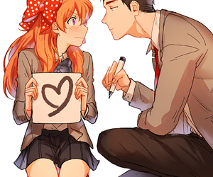 anime, couple, and gekkan shoujo nozaki kun image