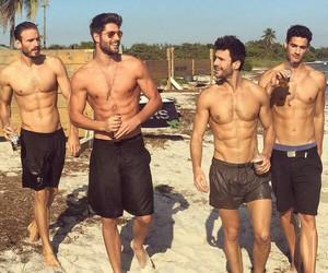 boy, Hot, and beach image