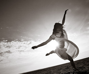 dance, black and white, and girl image