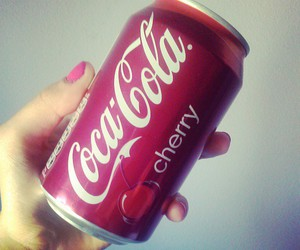 cherry, photography, and coca cola image