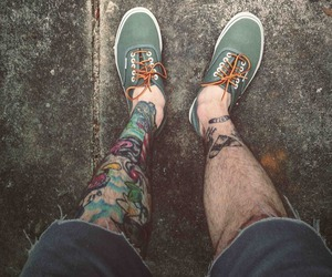 tattoo, vans, and boy image