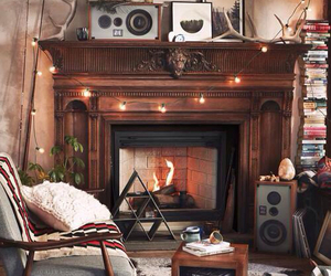 cozy, old, and fireplace image