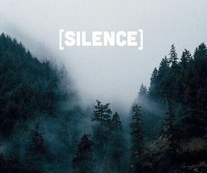 silence and tree image