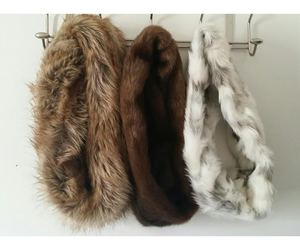 fashion, faux fur, and scarf image