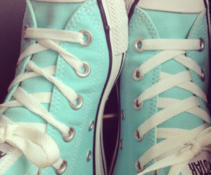 converse, feet, and mint image