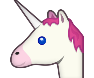 unicorn, emoji, and pink image