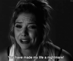 pretty little liars, nightmare, and hanna image