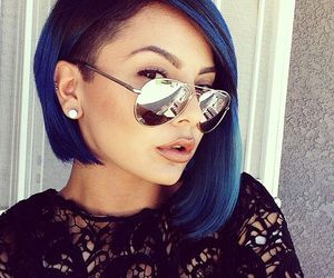 hair, blue, and fashion image