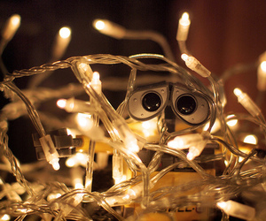 christmas, light, and wall-e image
