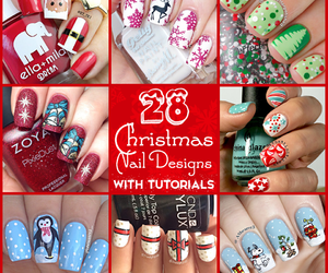 christmas, snowman, and nail art image
