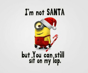 minions, funny, and santa image