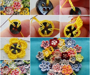 crochet, diy, and flowers image