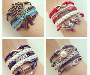 jewellery and cute braclets image