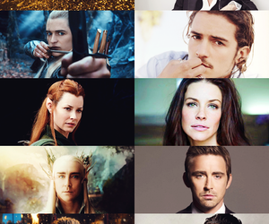 Legolas, smaug, and orlando bloom image